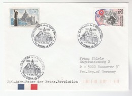 1989 Breuil Le Sec FRANCE Stamps EVENT COVER 200th Anniv  French Revolution - France
