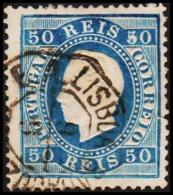 1879. Luis I. 50 REIS Perforated 13½. Tear.  (Michel: 48C) - JF193334 - 1853 : D.Maria