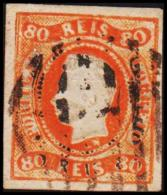 1866. Luis I. 80 REIS.  (Michel: 22) - JF193269 - 1853 : D.Maria