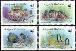 WWF Antigua & Barbuda 1987 Fish Antiguan Attractions MNH - Unused Stamps