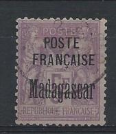MADAGASCAR - YVERT N° 22 OBLITERE - SIGNE SCHELLER - COTE = 125 EUR. - Madagascar (1889-1960)