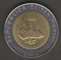 SAN MARINO 500 LIRE 1986 BIMETALLICA - San Marino