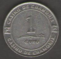 FRANCIA GETTONE CASINO TOKEN CASINO DE CHAMONIX VALORE 1 EURO - Casino