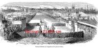 Reproduction D´une Gravure Des Courses De Saumur Sur L´hippodrome Des Prairies De Bray Au 19 ème Siècle - Stampe & Incisioni