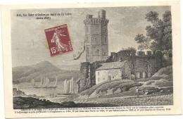 44 OUDON    LA  TOUR  D  OUDON   AU  BORD  DE  LA  LOIRE   VERS  1815 - Oudon