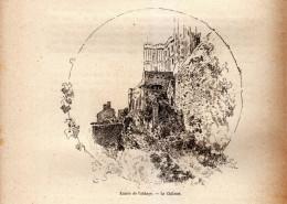 1890 - Gravure Sur Bois - Le Mont-Saint-Michel (Manche) - L'entrée De L'abbaye - FRANCO DE PORT - Boats