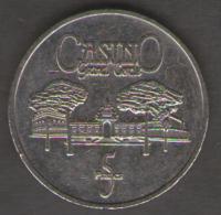 FRANCIA GETTONE CASINO TOKEN GRAND CERCLE AIX LES BAINS 5 FRANCS - Casino