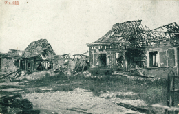 CARTE PROPAGANDE ALLEMANDE GUERRE 14-18 - 1 WK - DESTRUCTION VILLAGE A IDENTIFIER - Guerra 1914-18