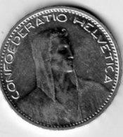 Suisse 5 Fr. 1923 Berne B Argent Tranche En Relief - Suisse