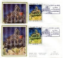 Auvers Sur Oise - Vincent Van Gogh - Yvert 2054 - Variété De Couleur  - R 2338 - Curiosidades: 1970-79 Usados