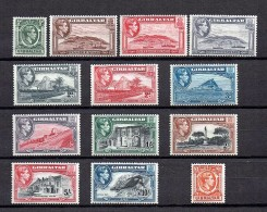 Gibraltar  1938  SG 121-130 **/MnH  (ex125c And 123 Short Perfs)  2 Scans  (£  170.00) - Gibraltar
