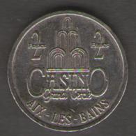 FRANCIA GETTONE CASINO TOKEN GRAND CERCLE AIX LES BAINS 2 FRANCS - Casino