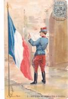 Militaria Illustrée A Palm De Rosa Militaire Armee Francaise Officier De Chasseurs A Cheval - Illustrateurs & Photographes