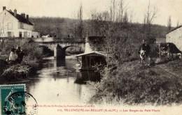 VILLENEUVE Sur BELLOT Les Berges Du Petit Morin Trèsc Animée,vaches Bateau-lavoir Photo BRINDELET - France