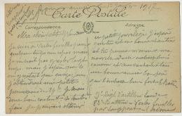 Guerre 14 CP Ecrite Vertes Feuilles Par Longpont 9 Eme Reg. Infanterie Sur CP Villeneuve Soissons La Maison Du Passeur - France