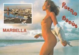 SPAGNA - SPAIN - Costa Del Sol - Puerto Banus - Marbella - Pin Up - Naked - Vari