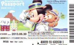Disney Passeport Entreecard JAPON * TOKYO DISNEYLAND Passport (1267) JAPAN *  STOCKHOLDERS PASSPORT * - Disney