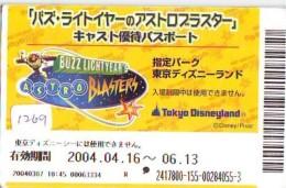 Disney Passeport Entreecard JAPON * TOKYO DISNEYLAND Passport (1269) JAPAN *  CINEMA FILM * ASTRO BLASTERS - Disney