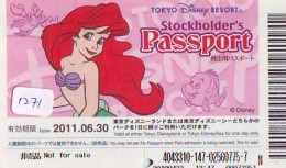 Disney Passeport Entreecard JAPON * TOKYO DISNEYLAND Passport (1271) JAPAN *  CINEMA FILM * - Disney