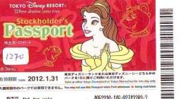 Disney Passeport Entreecard JAPON * TOKYO DISNEYLAND Passport (1270) JAPAN *  CINEMA FILM * - Disney