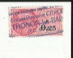 Timbre Fiscal  0'25   F  Obliterè ( Garage Citroen A Thonon ) - Fiscaux