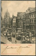 LONDRA / LONDON - Fleet Street And St. Paul's Cathe - Post Card -  Viaggiata - Come Da Scansione - St. Paul's Cathedral
