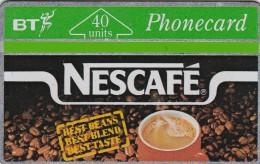 UK, BTA-018, 40 Units, Nescafé.   CN : 144A, 2 Scans - United Kingdom