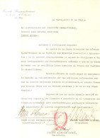 CARTA FIRMADA ORIGINAL POR LOS HISTORIADORES Y PROFESORES RAFAEL A. MORENO KIERNAN TOMAS DIEGO BERNARD HIJO Y GUSTAVO A. - Autographes