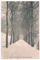 CPA : NAMUR Wépion Chemin Caracole ? - Collège Notre Dame De La Paix - Maison De Campagne Au Bout De L´allée Enneigée - Namur