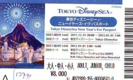 Disney Passeport Entreecard JAPON * TOKYO DISNEYLAND Passport (1273) JAPAN * TOKYO DISNEY SEA PASSPORT * - Disney