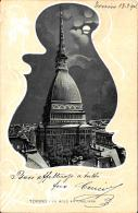 [DC2688] CPA - TORINO - LA MOLE ANTONELLIANA - Viaggiata 1904 - Old Postcard - Mole Antonelliana