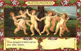 [DC2698] CPA - LA DANZA DEGLI AMORI - FRANCESCO ALBANI MILANO - IN RILIEVO - MATRIMONIO -  Non Viaggiata - Old Postcard - Angeli