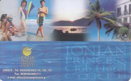 GREECE - Ionian Princess Club Hotel Corfu, Member Card, Sample - Cartes D'hotel