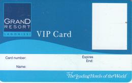 GREECE - Grand Resort Lagonissi, VIP Member Card, Sample - Cartes D'hotel