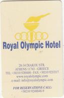GREECE - Royal Olympic, Hotel Keycard, Sample - Cartes D'hotel
