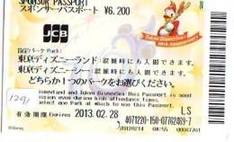 Disney Passeport Entreecard JAPON * TOKYO DISNEYLAND Passport (1291) JAPAN *  PASSPORT - Disney