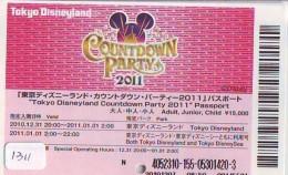 Disney Passeport Entreecard JAPON * TOKYO DISNEYLAND Passport (1311) JAPAN *  PASSPORT * FILM * CINEMA * - Disney