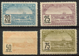 Maroc (1899) N 100 à 103 Tjr Sans Gomme - Neufs