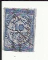 Timbre Fiscal De Quittances -Reçus Et Decharges 10 Cents Obliteré - Revenue Stamps