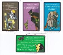 SERIE DE 4 TARJETAS DE ITALIA DE PINOCHO  (DISNEY)  PINOCCHIO - Disney