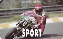 TARJETAS DE ITALIA DE SPORT EMISSIONE MARZO 1995 (NUEVA-MINT) MOTOCICLISMO (MOTO-MOTORBIKE) - Italia