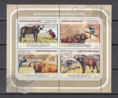 Guinea-Bissau 2008,4V In Block,kingfishers,birds,vogels,vögel,oiseaux,pajaros,uccelli,aves,buffelo,MNH/Postfris(L2265) - Unclassified