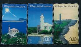 Croatia 2010: Lighthouses (IV); Tajer - Vir - Veli Rat. MNH(**) - Croazia