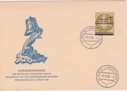 BERLIN 1956 LETTRE ENVELOPPE ILLUSTREE THEME OURS - Cartas