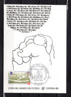 """FRANCE 1982 : Carte 1er Jour """" COUPE DU MONDE DE FOOTBALL ESPANA 82 / BILBAO """".  Parfait état. FDC - World Cup"""