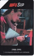 2192 TARJETA DE ITALIA DE 10000 LIRAS SIP DE UNA MUJER  (WOMAN) - Pubbliche Speciali O Commemorative