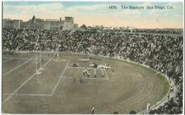 FOOTBALL C. 1907 The Stadium, San Diego CA Football Field W Cheerleaders - San Diego