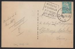 MODANE GARE - SAVOIE / 1950 CACHET DAGUIN SUR CARTE POSTALE / COTE 10 € (ref D64) - Postmark Collection (Covers)