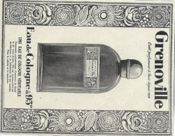 Hygiéne Et Santé/Encart Publicitaire/L´Illustration/Moyen  Format/Eau De Cologne / GRENOVILLE/1925   ILL130 - Droguerie & Parfumerie