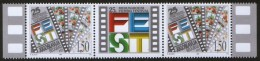 "Yugoslavia, 1997, 25th International Film Festival ""FEST"", Stamp-vignette-stamp, MNH (**) - 1992-2003 Federal Republic Of Yugoslavia"